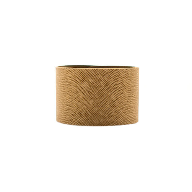 Antique Brass Wide Leather Cuff Nickel and Suede