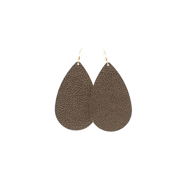 Bronze Beauty Nickel and Suede Leather Earrings