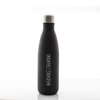 N&S Textured Matte Black Water Bottle