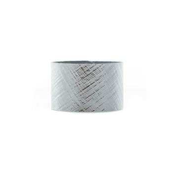 Etched Silver Wide Leather Cuff