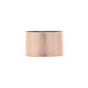 N&S Signature Rose Gold Wide Leather Cuff