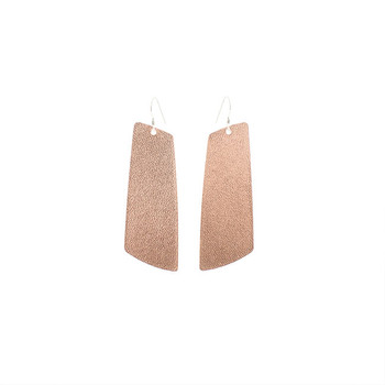 N&S Signature Rose Gold Gem Leather Earrings