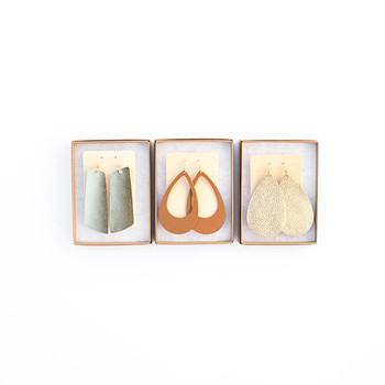 N&S Leather Earrings Gift Set- GOLD