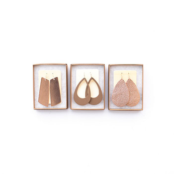 N&S Leather Earrings Gift Set- ROSE GOLD