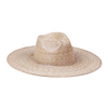 Palma Wide Fedora Nickel and Suede