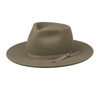 Moss Zulu Fedora Nickel and Suede