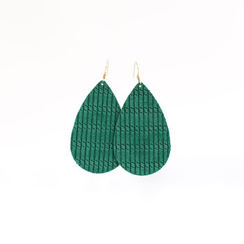 Spearmint Cord Leather Earrings Nickel and Suede