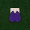TEAM Purple Nickel and Suede Leather Earrings