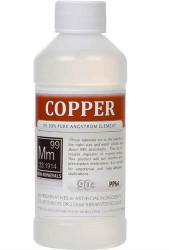 Copper comes in 8, 16 and 128 ounce bottles.