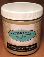 Eight ounce cleansing clay mask container - larger size for the girls to share or couple.