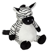 Personalised Embroider Buddy – Zebra with a personalised teddy bear message