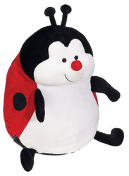 Personalised Embroider Buddy – Red Ladybug with a personalised teddy bear message