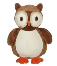 Personalised Embroider Buddy – Owl with a personalised teddy bear message