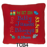 personalised Red cushion cover will last for ages