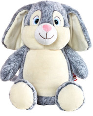 personalised Cubby Large Grey Rabbit