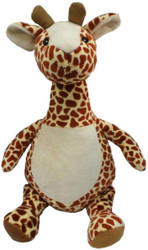 Long Neck Giraffe Cubby with a personalised teddy bear message