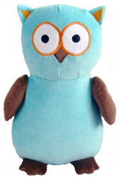 Personalised Aqua/Brown Owl Cubby with any message on it