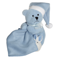 Personalised Embroider Buddy Sleepy Head Blankie - Blue Bear
