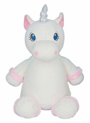 Christening Bear - Cubby White Unicorn