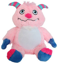 Personalised Message Bear - Pink Monster