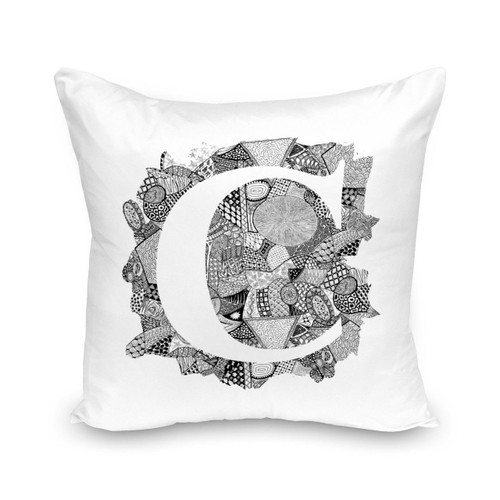 Alphabet  C  Cushion Cover