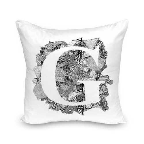 Alphabet  G  Cushion Cover