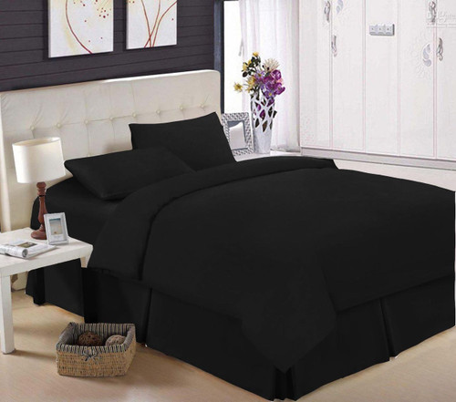 Egyptian Cotton 200 TC Black Fitted Sheet