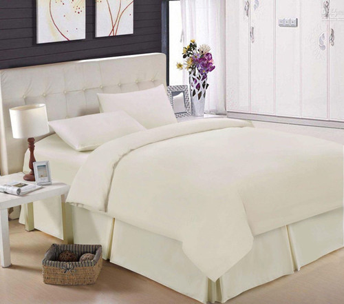 Egyptian Cotton 200 TC Cream Fitted Sheet