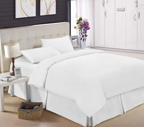 Egyptian Cotton 200 TC White Fitted Sheet