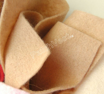 10 Pack Tan Felt Sheets