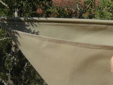 Cover stitch seals the seams