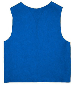 10 Medium Youth Felt Neon Blue Patch Vest
