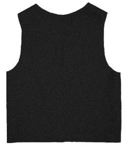 Youth Felt Black Patch Vest