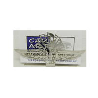Wing Wheel and Flag Stainless Steel Business Card Holder