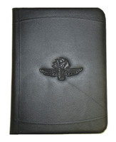 Wing Wheel and Flag Embossed Padfolio