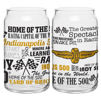Wing Wheel and Flag Glass Can