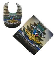 Indianapolis Motor Speedway Bib and Burp Cloth Set