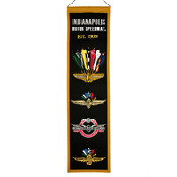 Wing Wheel and Flag Wool Heritage Banner