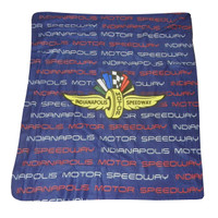 Indianapolis Motor Speedway Navy Fleece Throw Blanket