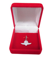 Wing Wheel and Flag Sterling Silver Charm