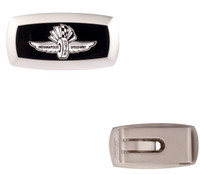 Wing Wheel and Flag Money Clip