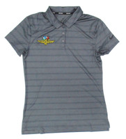 Ladies Wing Wheel and Flag Grey Dry Polo