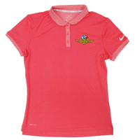 Ladies Wing Wheel and Flag Pink Dry Polo