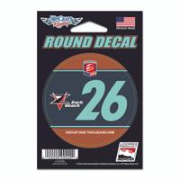 Zach Veach Round Driver Decal