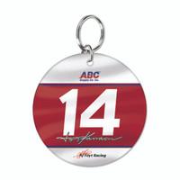 Tony Kanaan Round Driver Keychain