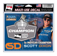 2018 Verizon INDYCAR Series Champion Scott Dixon Decal