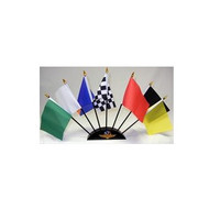 Indianapolis Motor Speedway 7 Flag Set With Base / 7 Flags