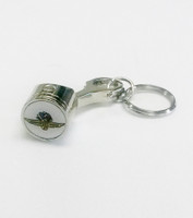 Wing Wheel and Flag Piston Keychain