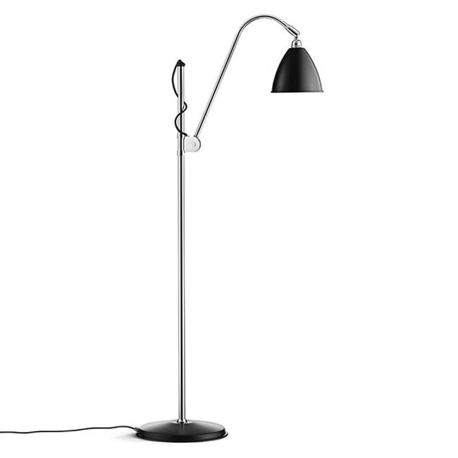 Gubi Bestlite Floor Lamp BL3S in Black/Chrome