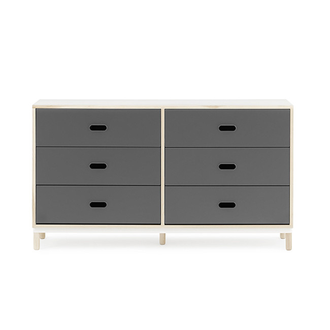 Normann Copenhagen Kabino Dresser with 6 Drawers in grey